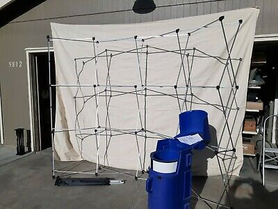 2 Trade Show Curved Pop Up Booth Display W Cases 9 X 7 - Build Your Own Art