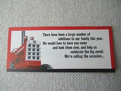 Cockshutt 1950 Tractor Cockshutt Fair Invitation Card Brochure