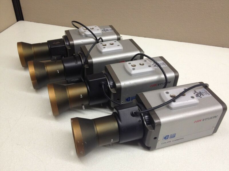 LOT of 4 HIK Vision 540TVL Color CCTV Camera w/ 5-100mm Extra Long Range Lens