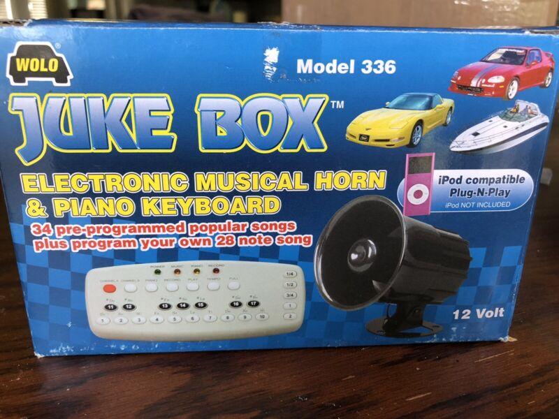 Wolo Juke Box Model 336 Electronic Musical Horn and Piano Keyboard. OPEN BOX