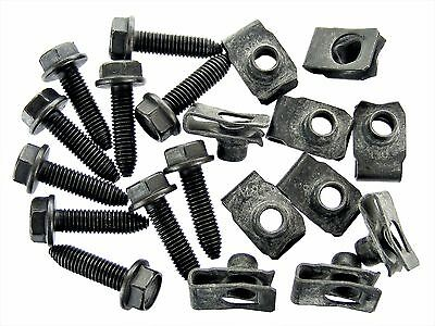 Body Bolts & U-Nuts for Nissan- M8-1.25mm Thread- 13mm Hex- Qty.10 ea.- #131