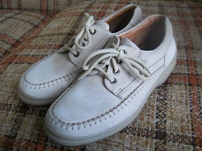 Ecco Womens 8-8.5 (39) Tan Lace-Up Oxford Moccasins 615319