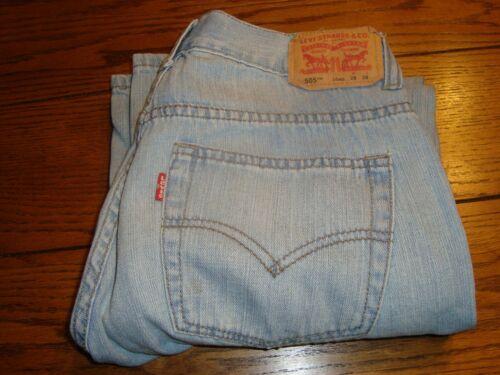 LEVIS 505 Regular Blue Denim Jeans - Size 16 REG W28 X L28 - 100% Cotton