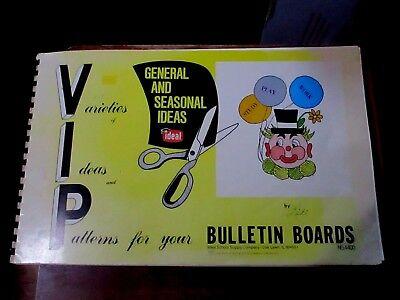 VINTAGE 1978 SCHOOL TEACHERS BULLETIN BOARD GENERAL & SEASONAL IDEAS/PATTERNS - School Bulletin Board Ideas