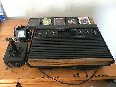 Atari 2600 Console With 5 Games