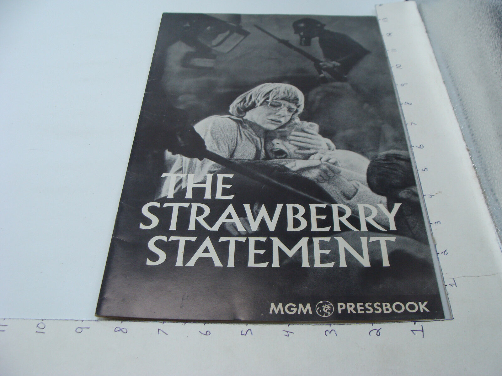 Orig MGM PRESSBOOK - THE STRAWBERRY STATEMENT - not complete