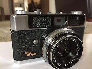 Vintage Olympus Auto Eye 35mm Rangefinder 1:2.8 Zuiko Retro