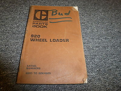Caterpillar Cat 920 Wheel Loader Parts Catalog Manual Book Sn 62k1-62k4605