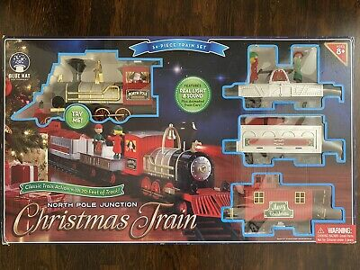 Blue Hat North Pole Junction Christmas Classic Animated Train Set