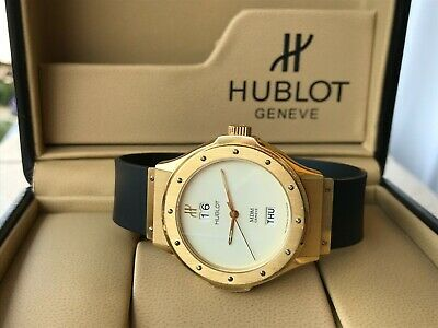 Hublot Watch MDM Geneve 1840.3 Automatic Day Date Solid Gold 18K Mens 38.5mm