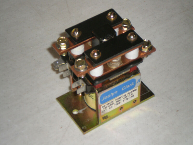 New! Joslyn Clark 7703-1100-63 Definite Purpose Contactor 100 Amp MINI 48 VDC