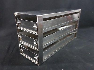 Laboratory Stainless Steel Ss 3-sliding Drawer Upright Freezer Rack 15-38 Deep
