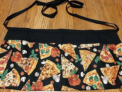 Waitress Apron 3 Pockets Pizza Slices