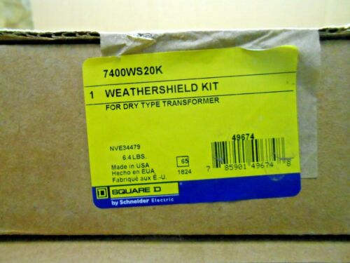 1 NIB SQUARE D 7400WS20K WEATHER SHIELD KIT 20K TO TYPE 3R FOR DRY TRANSFORMER