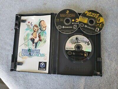 Lot of 2 Crystal Chronicles w PAC MAN WORLD 2 W/ PAC MAN VS Nintendo GameCube