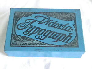 Victoria-Typograph Stempelset Stempel alt 30er Jahre Dose