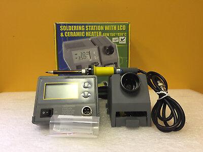 Velleman Vtssc40n 150 To 450c Digital Soldering Station Iron Stand Tips