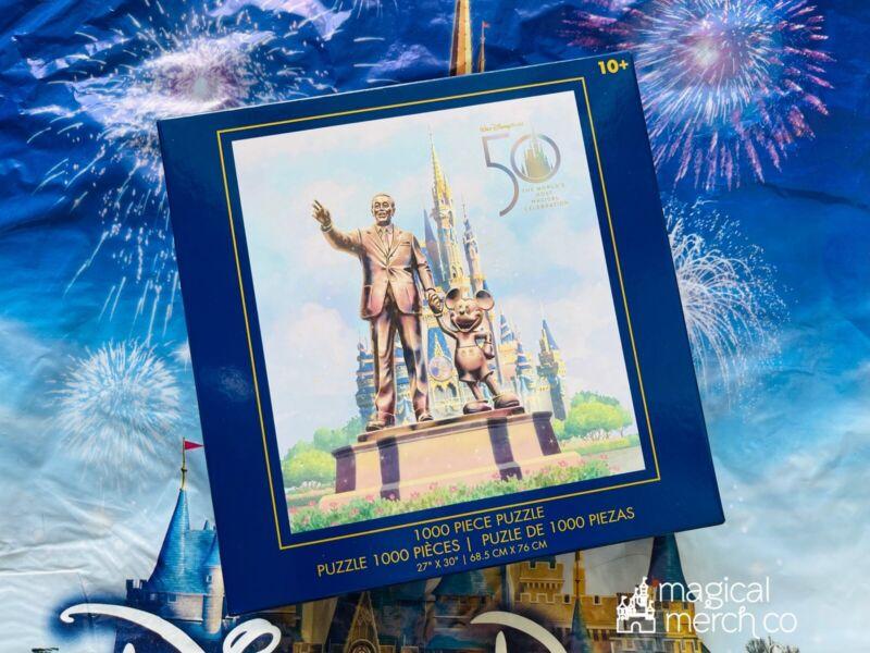 2021 Disney World 50th Anniversary Castle Partners Mickey Walt Puzzle New