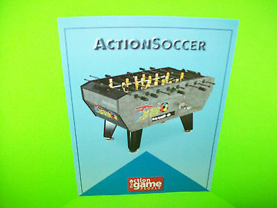 Action Soccer Sales FLYER Sheet For Foosball Table Arcade Game Great American  (Action Soccer Foosball Table)