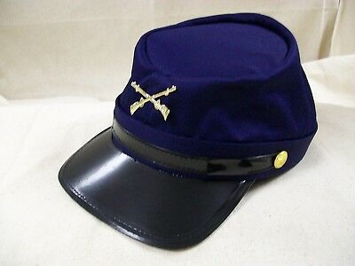 Civil War Union Soldier Costume Hat Blue Coats Calvary Kepi Cap Yankee - Union Civil War Costume
