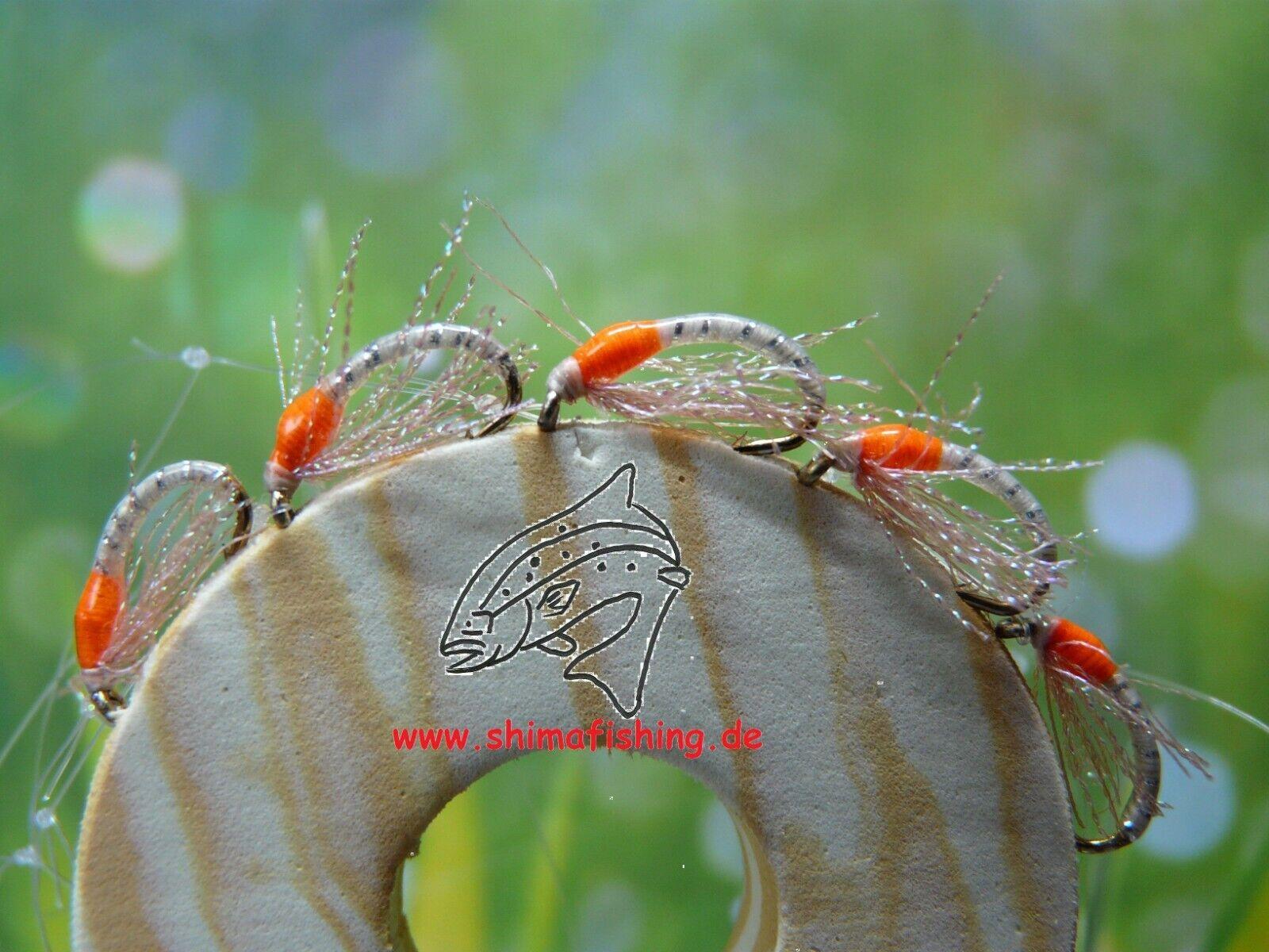 UV - Nymphen Gr.14 freie Farbwahl Felchen Renken Hegenen Hegene Forelle !! ;-