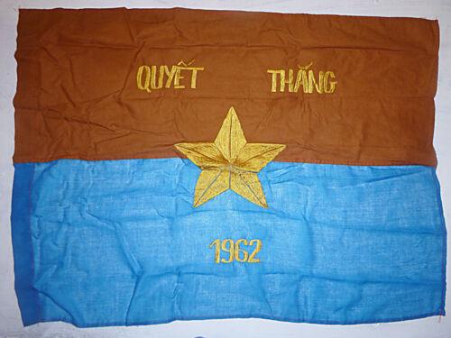 Viet Cong - 1962 VICTORY FLAG - National Liberation Front - Vietnam War - 1403