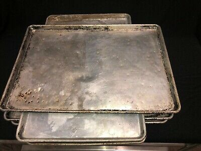 Lot Of 5 25.75x 17.75 Commercial Aluminum Full Sheet Baking Pans