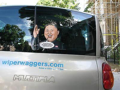 WAVING RAGING KIM JUNG UN LEADER NORTH KOREA WIPER ARM FOR CAR REAR WINDSCREEN