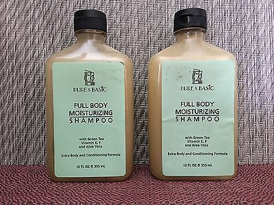 Aloe Moisturizing Shampoo (Pure Basic FULL BODY MOISTURIZING SHAMPOO With Green Tea Vitamin E,F,  Aloe Vera)