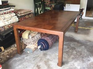Exceptionnel VINTAGE HENREDON SOLID WOOD DINING ROOM TABLE 10 PERSON 2 LEAF FURNITURE  LOCAL 1