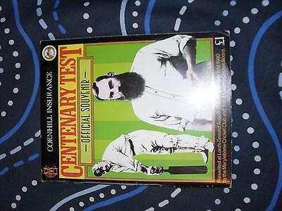 england v australia 1980 centenary test official programme cricket