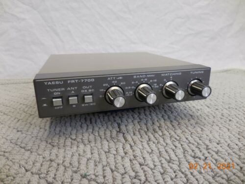 YAESU FRT-7700 HAM RADIO PASSIVE ANTENNA TUNER FOR FRG-7700 RECEIVER W/ MANUAL