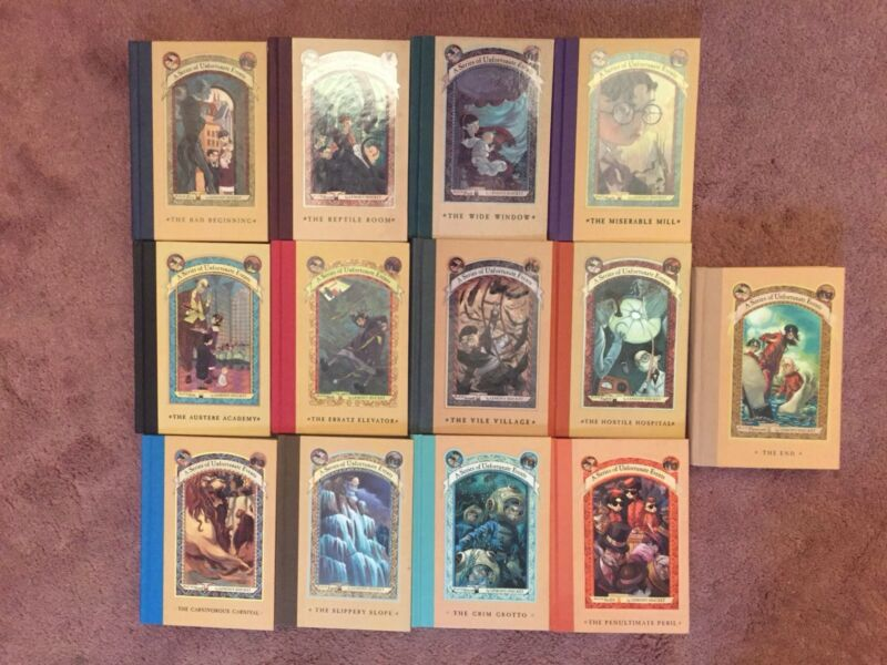 A Series of Unfortunate Events by Lemony Snicket Complete  Set 1-13 HC Books Lot