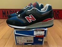 NEW BALANCE SHOES M998MB NAVY//RED MADE IN THE USA WIDTH D