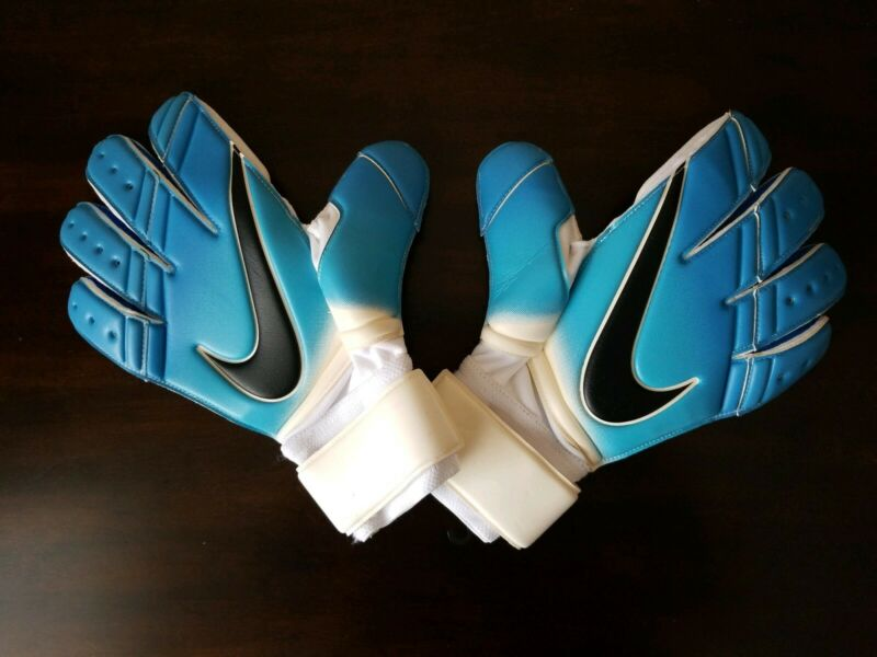 Nike GK Premier SGT Soccer Goalkeeper Gloves Blue White PGS221-169 Men