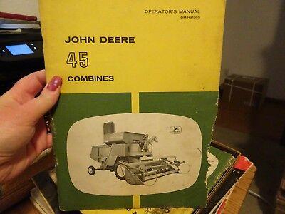 Vintage John Deere Operators Manual 45 Combine Om-h91055