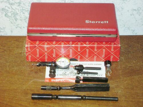 STARRETT LAST WORD DIAL INDICATOR NO 711 w/ CASE-BOX & ALL ATTACHMENTS