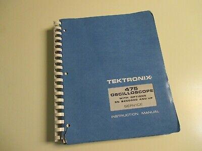 Tektronix 475 Oscilloscope Options Service Instruction Manual Schematics Usa