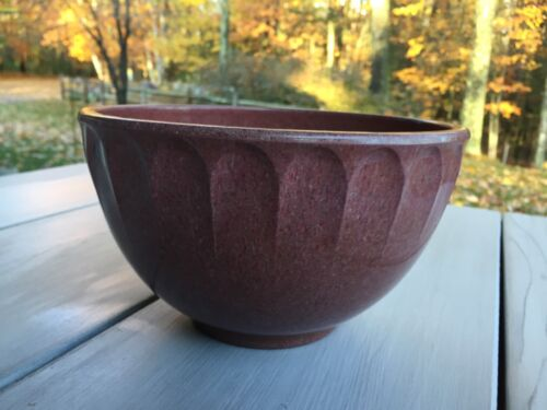 Boonton Raspberry Speckled Thumbprint Bowl 7 1/4 Inches VGUC