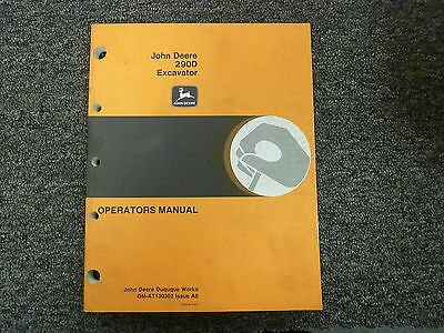 John Deere 290d Hydraulic Excavator Owner Operator Maintenance Manual Omat130302
