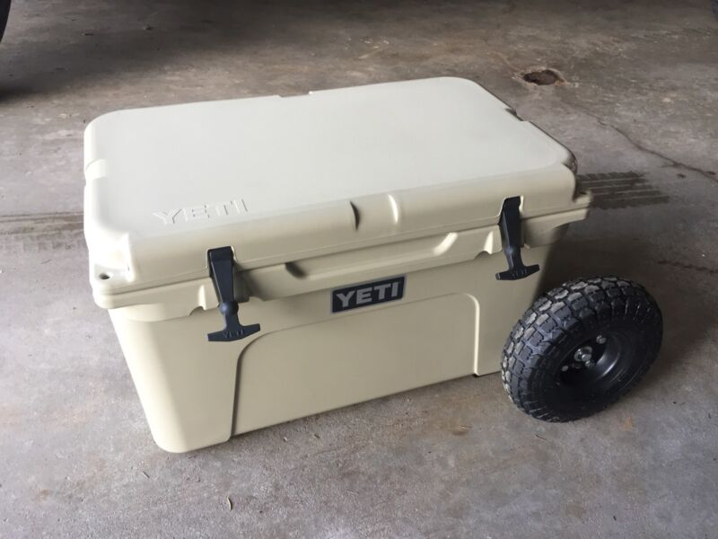 """Yeti Cooler 45 Wheel Tire Axle Kit """"THE HANDLE"""" Accessory Included-NO COOLER"""