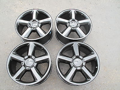 "20"" CHEVROLET SILVERADO TAHOE SUBURBAN GMC FACTORY SPEC BLACK WHEELS RIMS 5308"