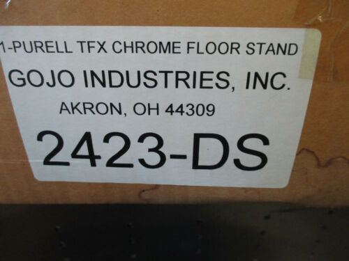 Purell Floor Stand - For LTX or TFX Dispensers/2423-DS/Stand Only/Chrome