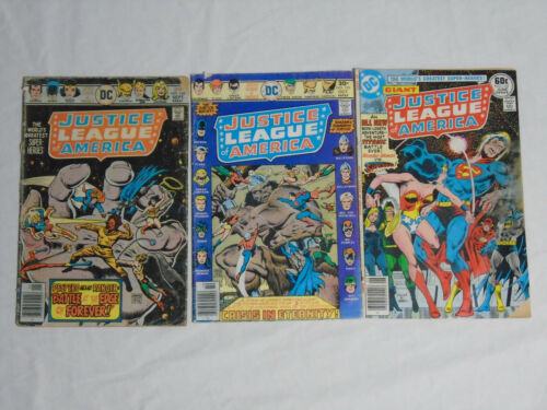 JUSTICE LEAGUE OF AMERICA #134 135 143 * DC Comics Lot  * 1976