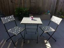 Outdoor Furniture 3 Piece Black and White Woven (Foldable) Indooroopilly Brisbane South West Preview