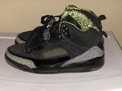 Air Jordan Spizike size 13 Lime Green, Purple and Black