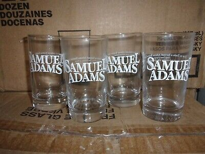 Samuel Adams 7 oz Beer Tasting Glasses Complete Set of 4