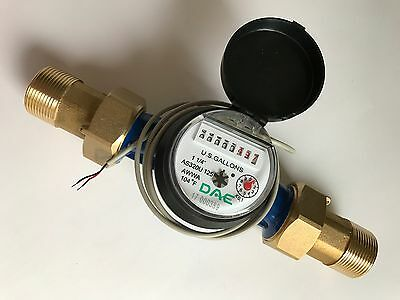 Dae As320u-125p 1-14 Water Meter Pulse Output Gallon Couplings