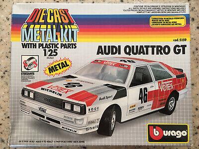 Bburago 1/25 Audi Quattro GT Diecast Metal Kit (5159) Unfinished Complete 1/24