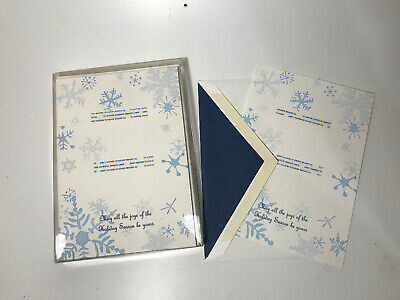 SNOWFLAKE WILLIAM ARTHUR FLAT PHOTO CARDS WITH LINED ENVELOPES 10 CARDS Flat Holiday Photo Card